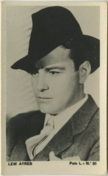 Lew Ayres 1938 Polo L tobacco card