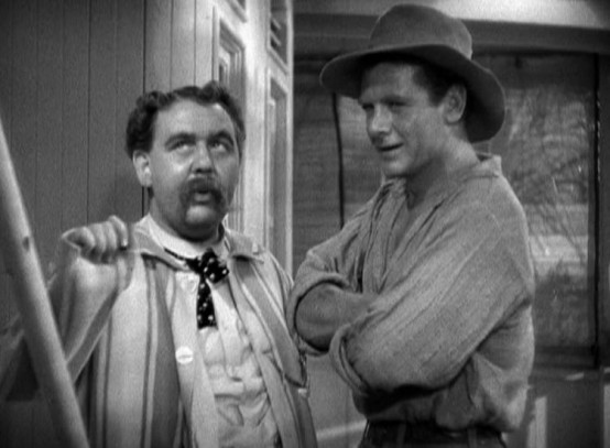 Charles Laughton and Charles Bickford