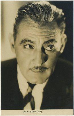 John Barrymore 1930s Film Weekly postcard