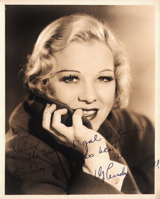Glenda Farrell 1932 portrait by Elmer Fryer