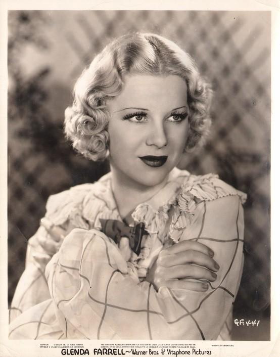 Glenda Farrell 1933 publicity portrait