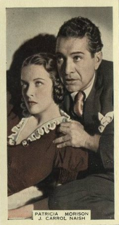 Patricia Morison and J Carrol Naish 1939 A and M Wix Film Favourites