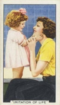 Juanita Quigley as Baby Jane with Claudette Colbert on 1935 Gallaher Tobacco Card