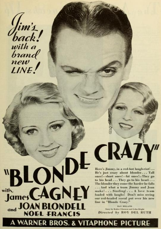 Blonde Crazy 1931 advertisement