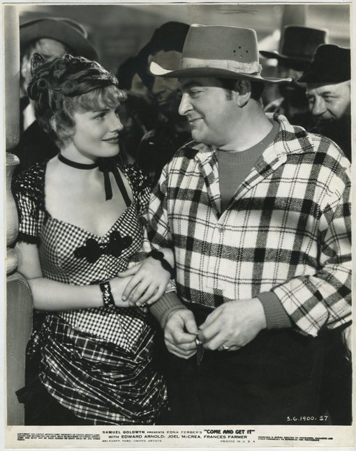 Frances Farmer and Edward Arnold