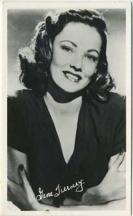 Gene Tierney 1940s postcard