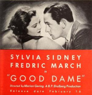 Sylvia Sidney and Fredric March in Good Dame 1934