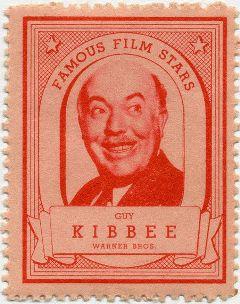Guy Kibbee 1935 Lipton Stamp