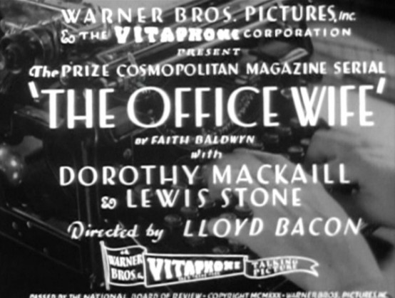 The Office Wife 1930
