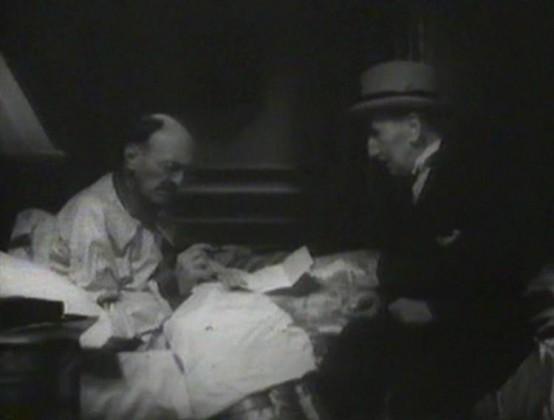Etienne Girardot visits Clarence Wilson