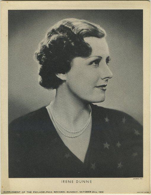 Irene Dunne 1936 Newspaper Supplement