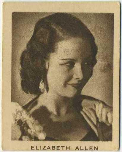 Elizabeth Allan 1933 Allen's Trading Card