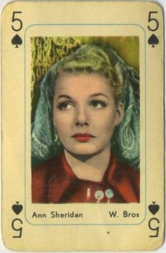 Ann Sheridan 1950s Maple Leaf Playing Card