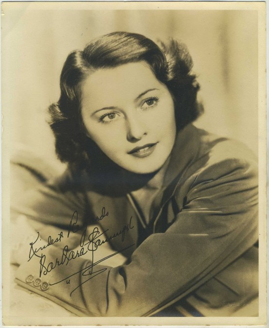 Barbara Stanwyck Deluxe Fan Photo
