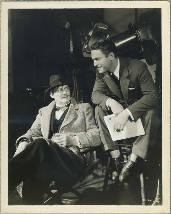 Lionel Barrymore and Chester Morris MGM Promotional Photo