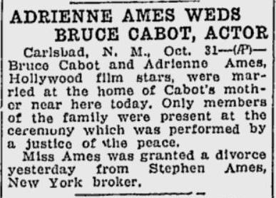 Bruce Cabot Adrienne Ames