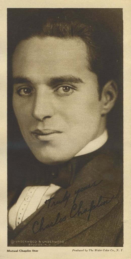 Charlie Chaplin 1916 Water Color Co Paper Premium Photo