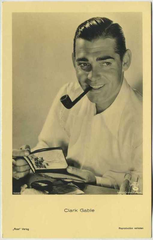 Clark Gable 1930s Ross Verlag Postcard