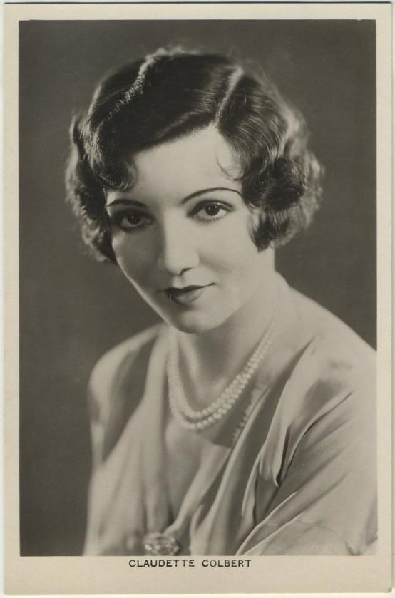 Claudette Colbert 1930s Picturegoer Postcard