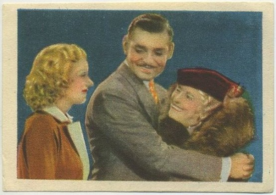 Harlow Gable and May Robson Editorial Bruguera trading card