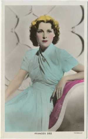 Frances Dee real photo postcard