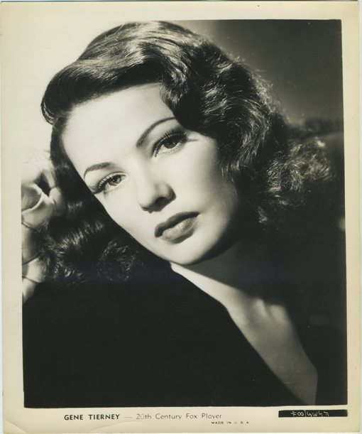 Gene Tierney 20th Century Fox Promotional Photo