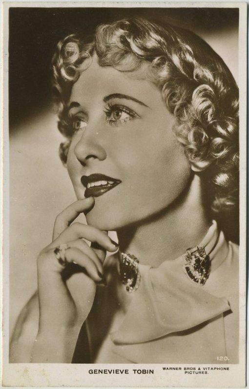 Genevieve Tobin 1930s Picturegoer Postcard
