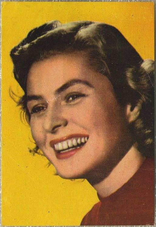 Ingrid Bergman 1960s Historia del Cine paper stock trading card