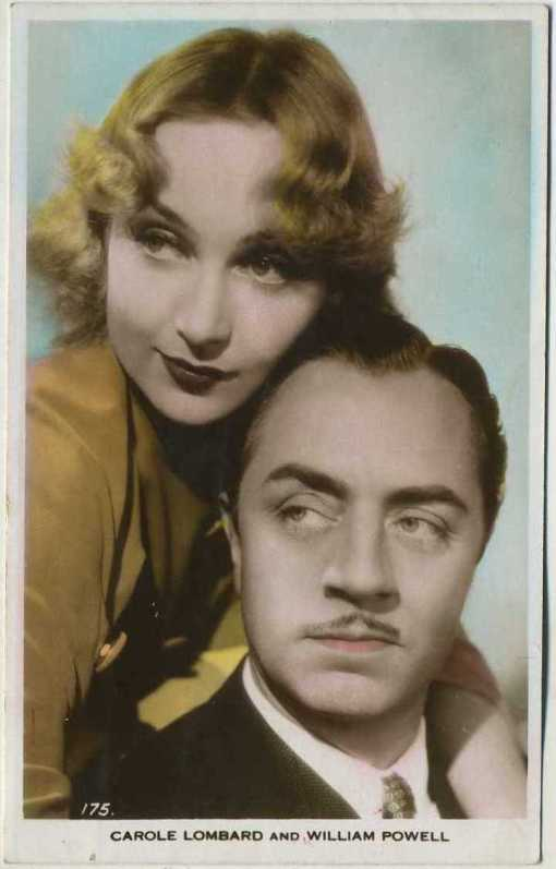 Carole Lombard and William Powell Postcard