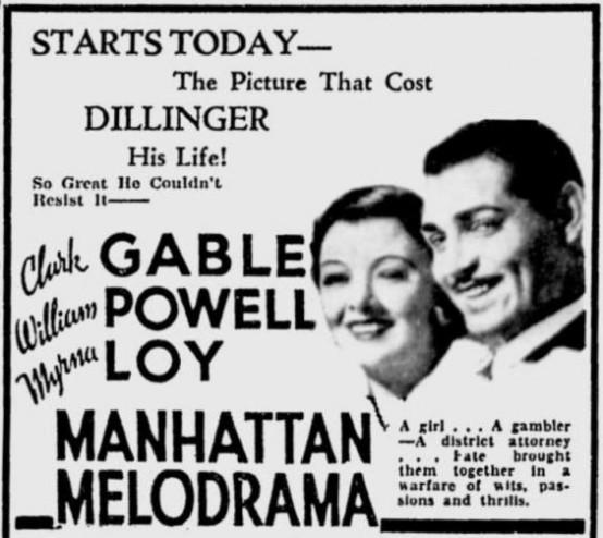 Manhattan Melodrama advertisement