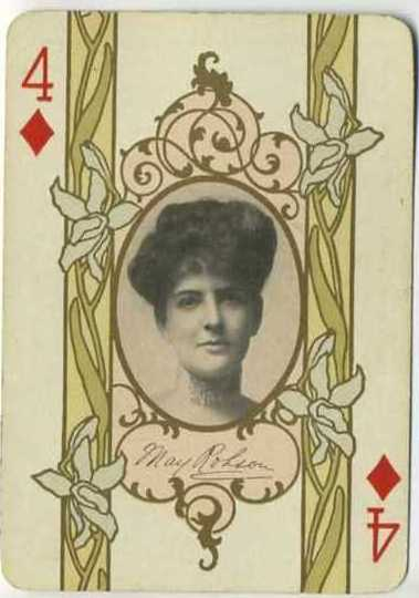 May Robson 1908 Playing Card