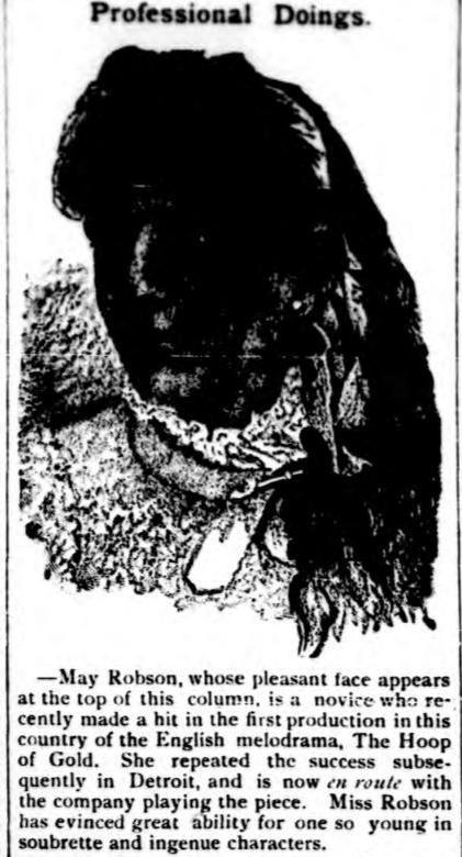 May Robson 1880s