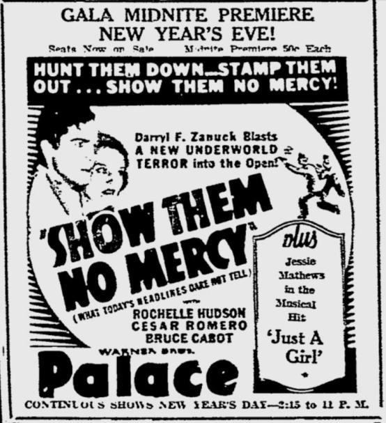 Show Them No Mercy 1935 ad