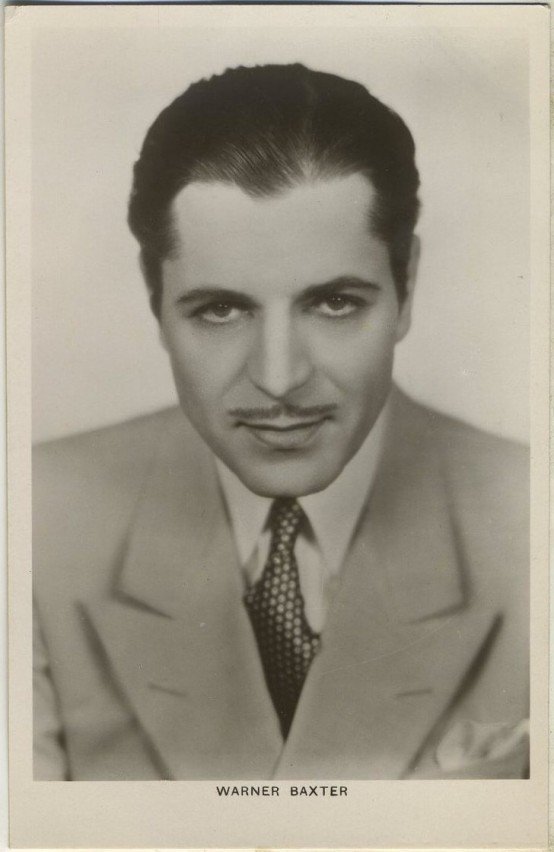 Warner Baxter 1930s Picturegoer Postcard