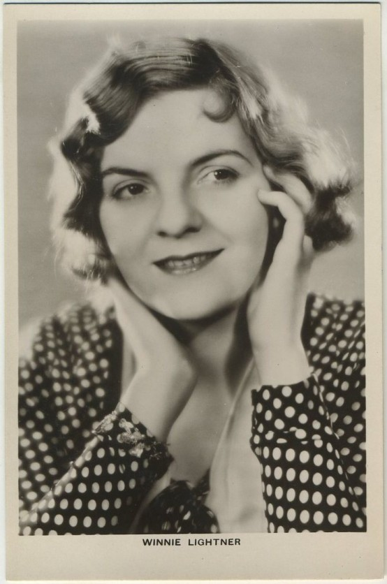 Winnie Lightner 1930s Picturegoer Postcard
