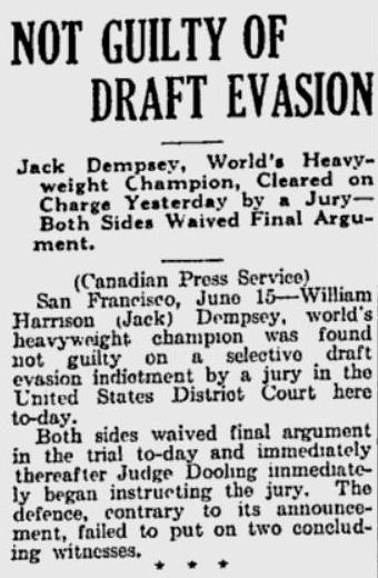 Source: Quebec Telegraph, June 16, 1920, page 3.