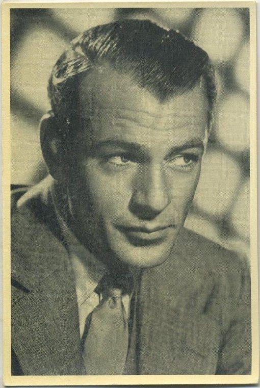 Gary Cooper 1940 Cinema Cavalcade Tobacco Card