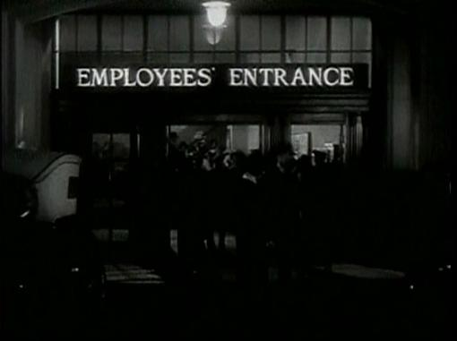 Employees Entrance 1933