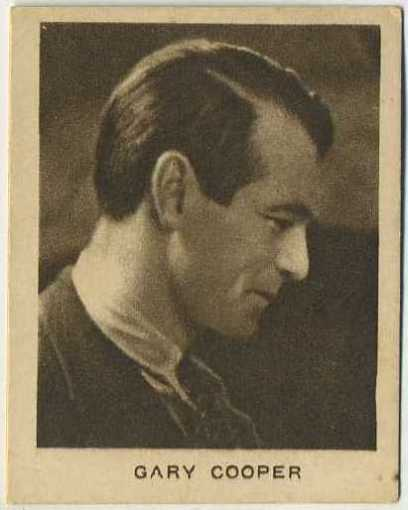 Gary Cooper Allens Trading Card