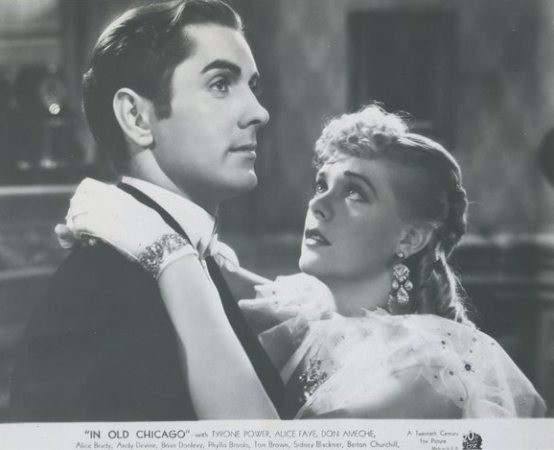 Tyrone Power and Alice Faye in In Old Chicago