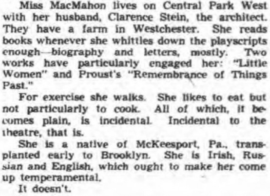 Aline MacMahon 1943 article part 2