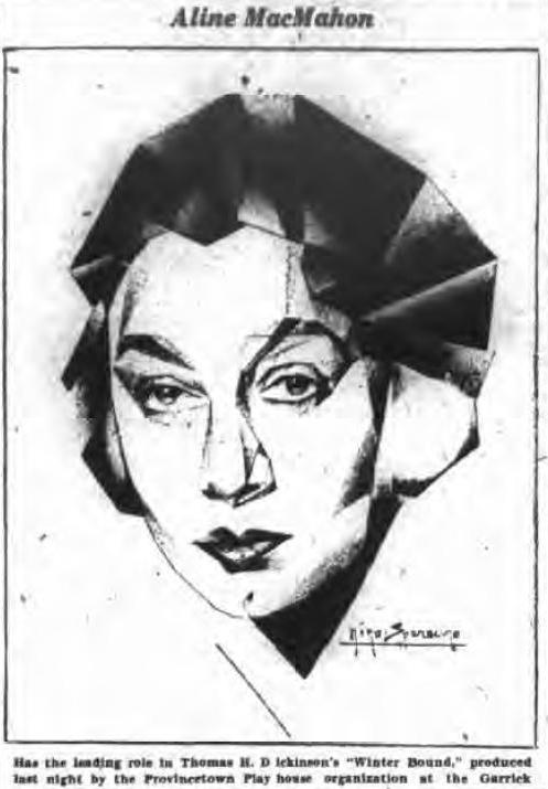 Aline MacMahon 1929 illustration
