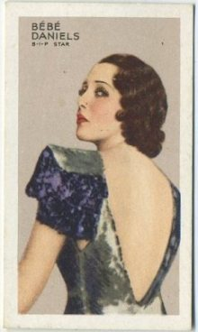 Bebe Daniels 1935 Gallaher Stars of Screen and Stage