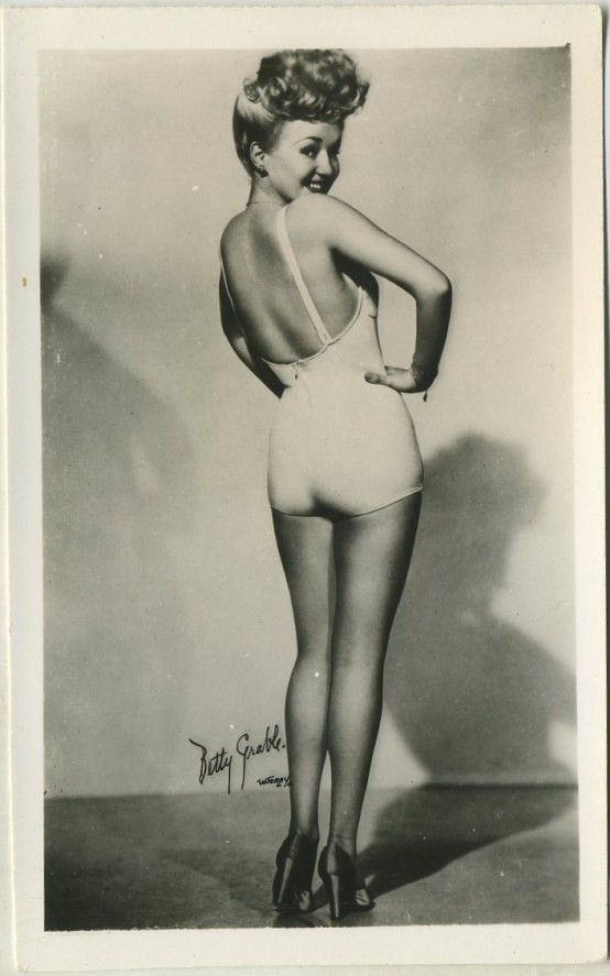 Betty Grable 1940s Postcard