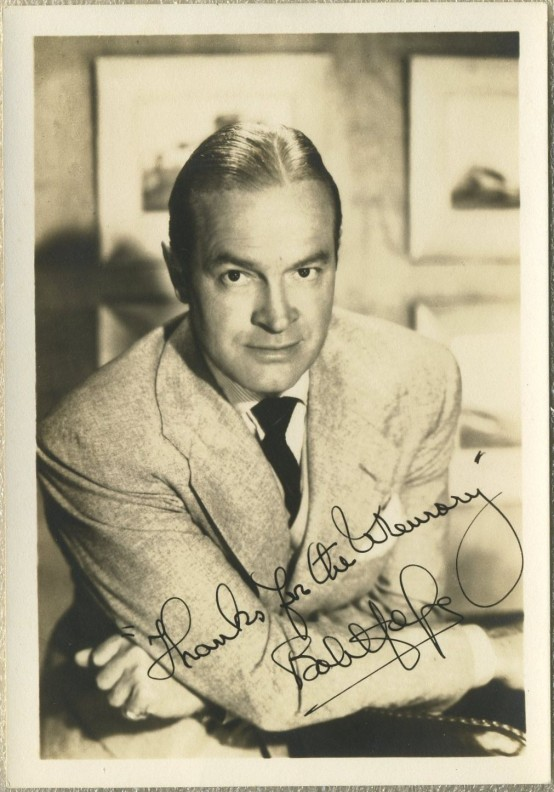 Bob Hope 1940s Fan Photo