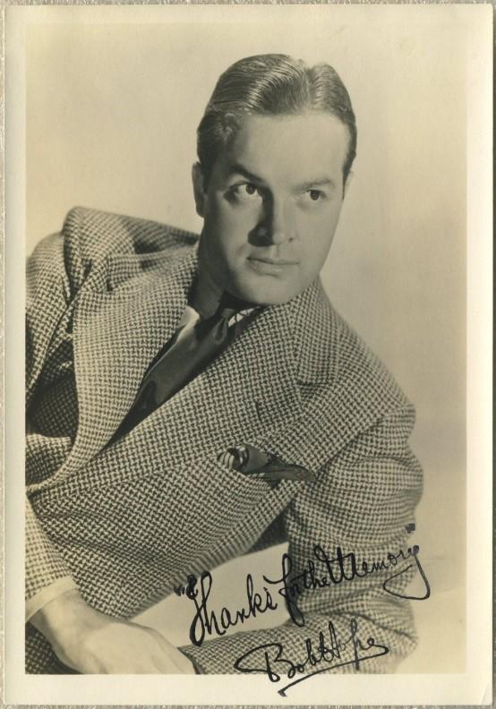 Bob Hope 1930s Fan Photo