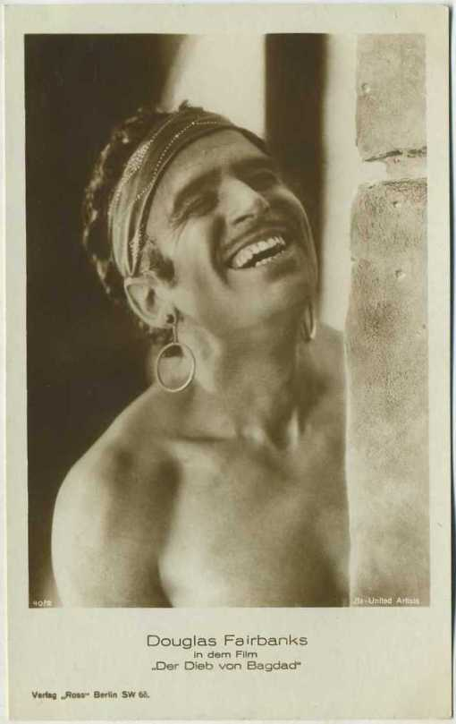 Douglas Fairbanks Ross Verlag Postcard