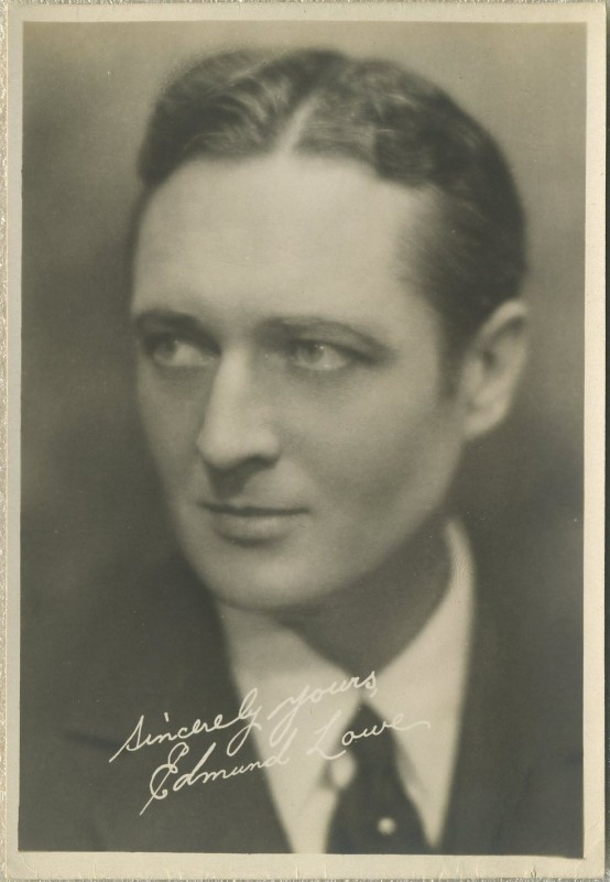 Edmund Lowe 1920s Fan Photo