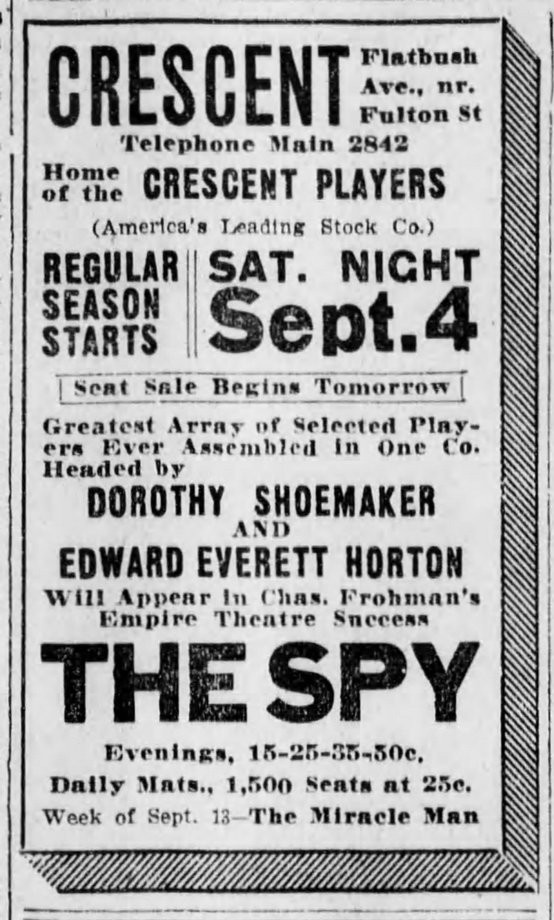 Edward Everett Horton 1915 clipping