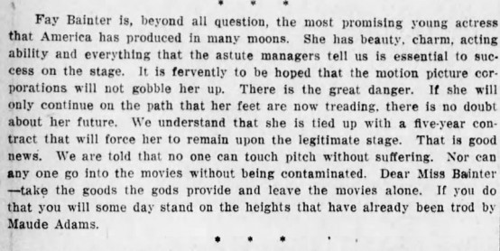 Found in the Brooklyn Daily Eagle, March 11, 1917 edition, page 2.